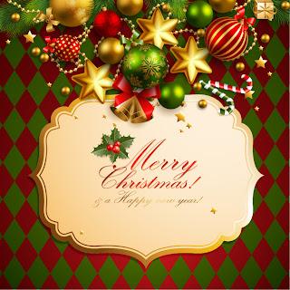 クリスマス飾りの背景 二色 CHRISTMAS ELEMENTS IN BACKGROUND1