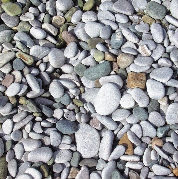Beach in North Wales. Pebbles along the british coast.