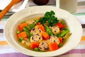 Sup Rolade Sayur. i-Kuliner