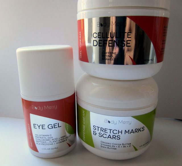 body merry skincare eye gel cellulite cream stretch mark scars