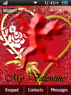 General Happy Valentine's Day 2013 Samsung Corby 2 Theme Wallpaper