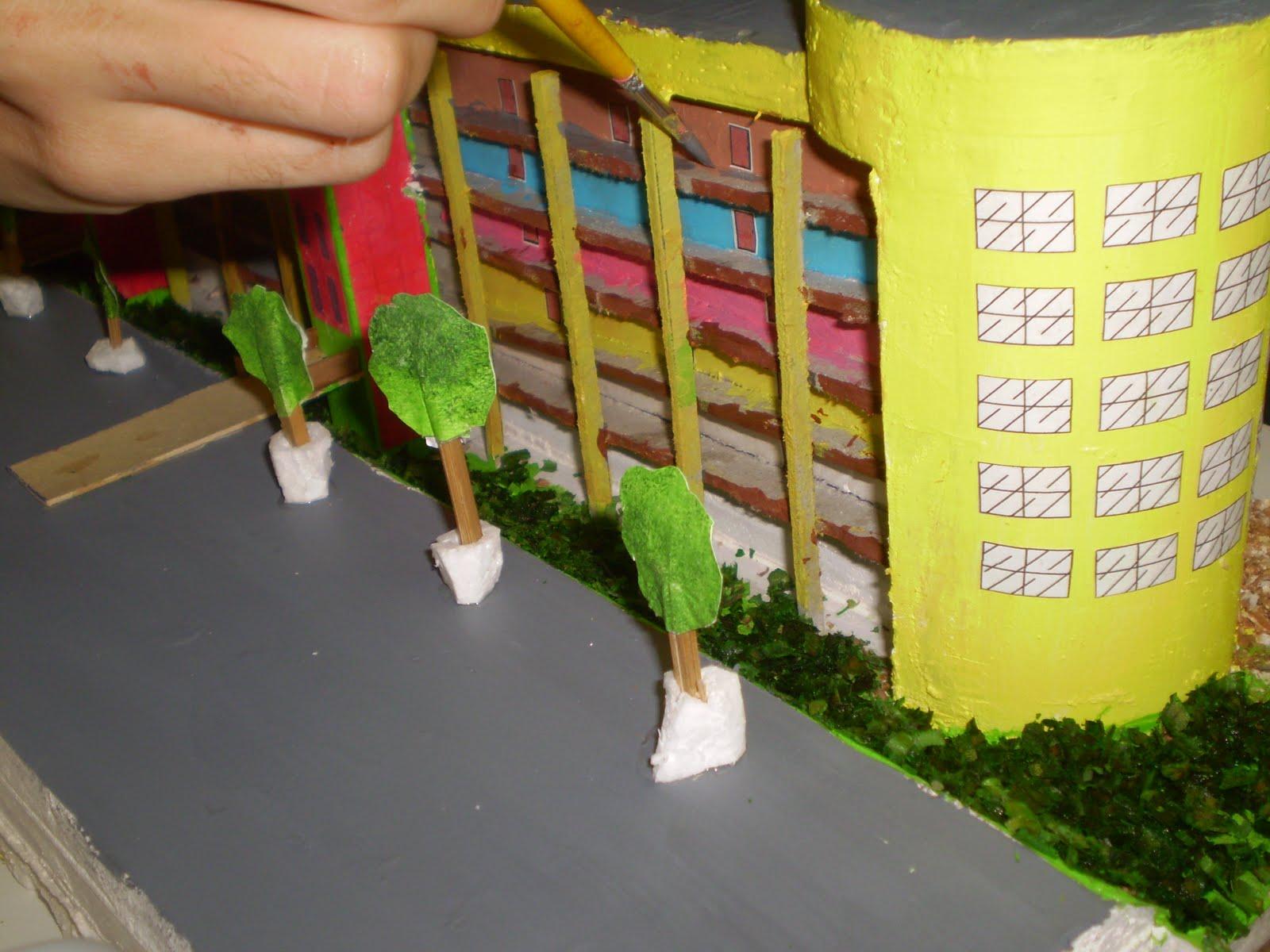 Maquete De Pr  Dio Constru  Da Pelas Estudantes De Engenharia Da