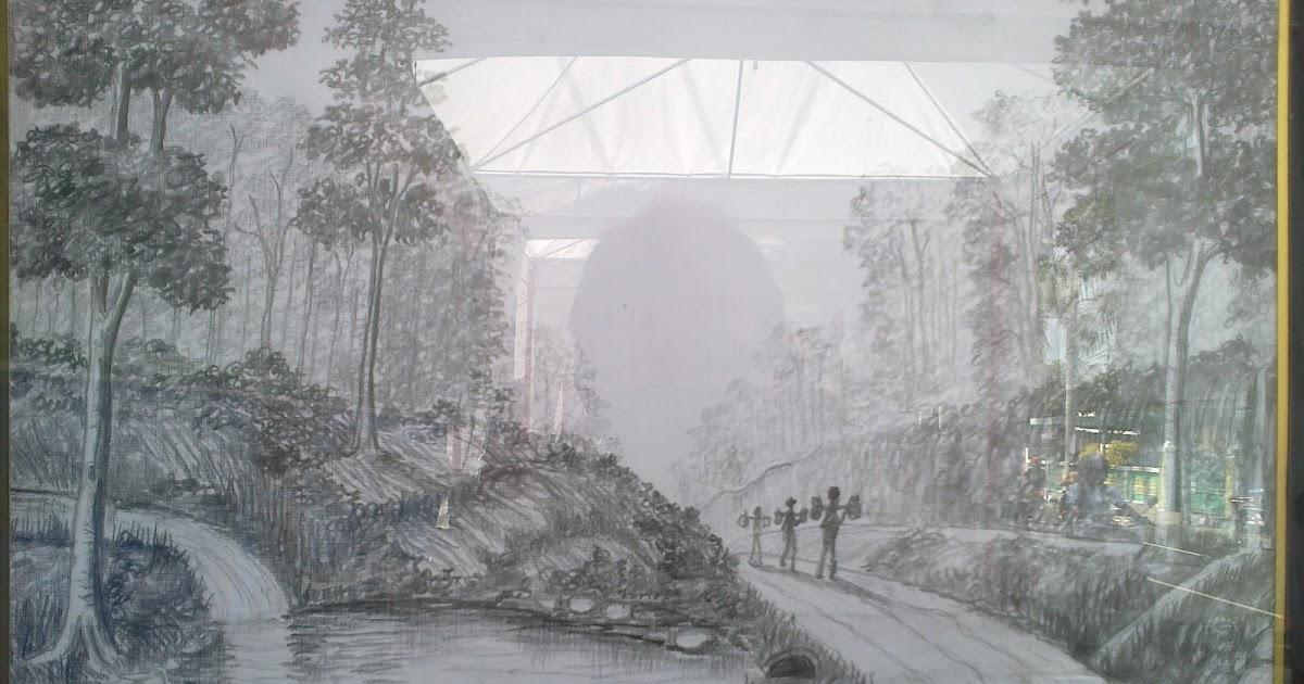 Joindrato Blog S Lukisan Pencil Di Kanvas