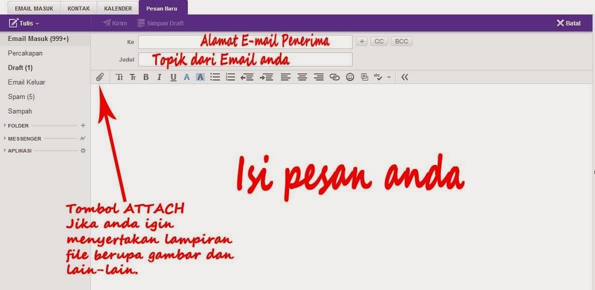 cara mengirim email dari yahoo