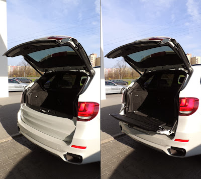 BMW X5 M50d - dwuczęściowa klapa bagażnika
