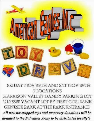 11-28/29 American Eagles M.C Toy Drive