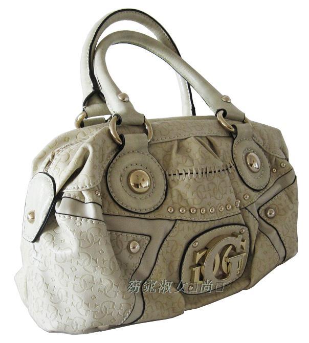Guess Com Handbags. GUESS Ryann Jacquard Satchel Bla.
