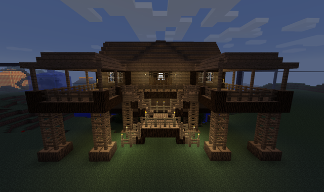 Minecraft building ideas stilt house for House building ideas