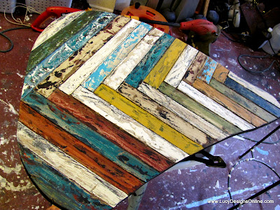 reclaimed painted wood butterfly wing