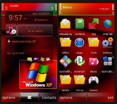 Windows Xp Red s60 v5 | Windows Xp Red s60 v3