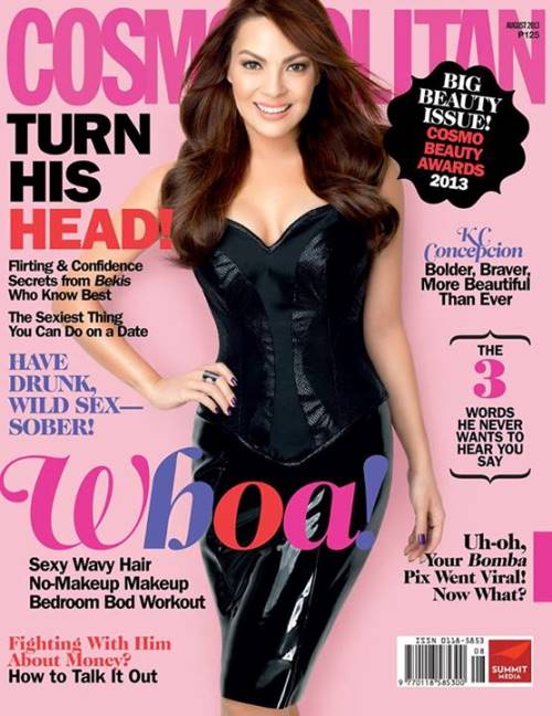 KC Concepcion covers Cosmopolitan magazine August 2013 issue