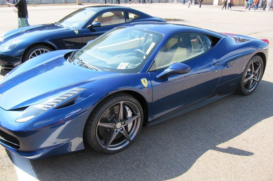 ferrari 458 blue - Ferrari 458 Blue And White