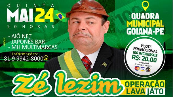 Show Zé Lezim - Operação Lava Jato