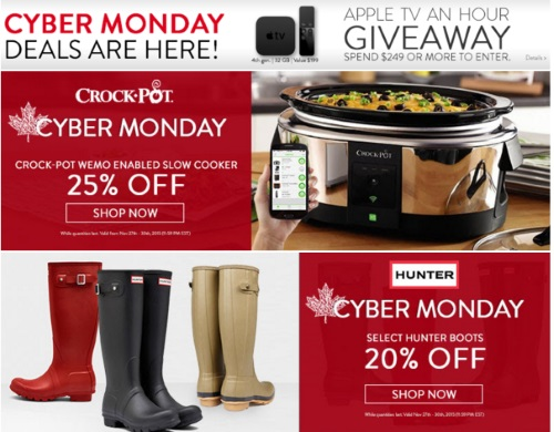 Shop.ca Cyber Monday Deals + Hourly TV Giveaway
