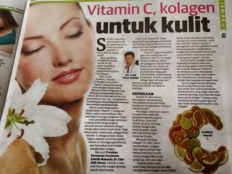 Vitamin C Kolagen Untuk Kulit