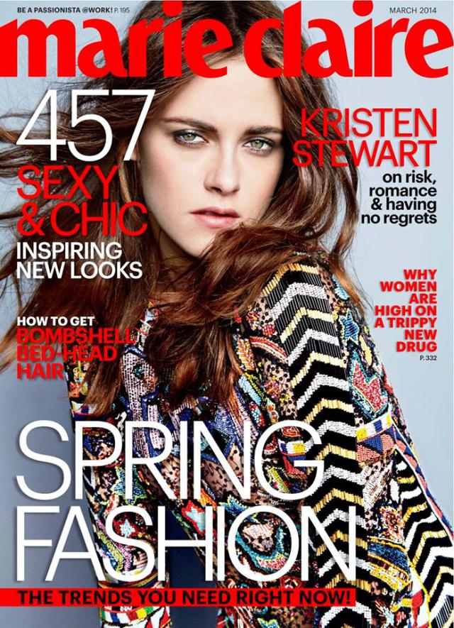 Kristen Stewart para Marie Claire Magazine marzo 2014