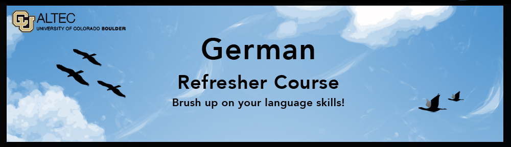 German Refresher Course