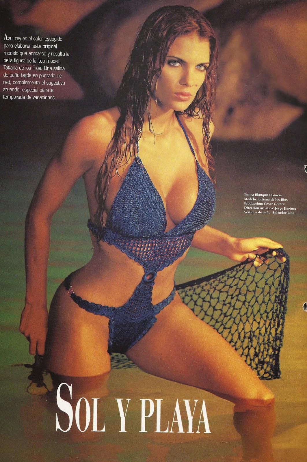 Bikini Azul a Crochet