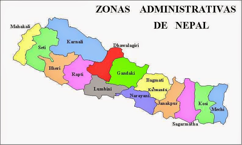 Political Maps Of Nepal Free Printable Maps - Nepal map