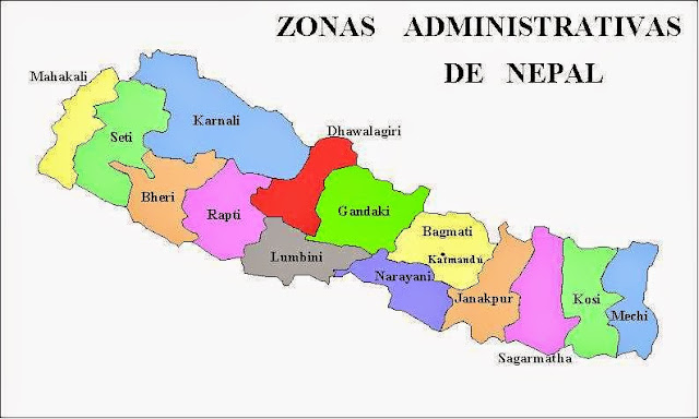 Map of Nepal Administrative Zones