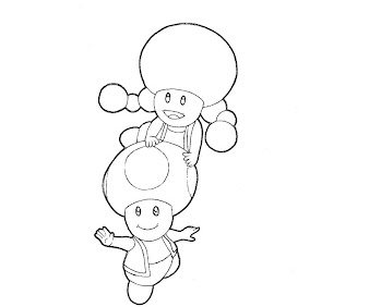 #7 Toadette Coloring Page