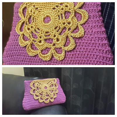 crochet hand clutch