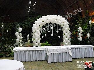 оформление президиума на свадьбу