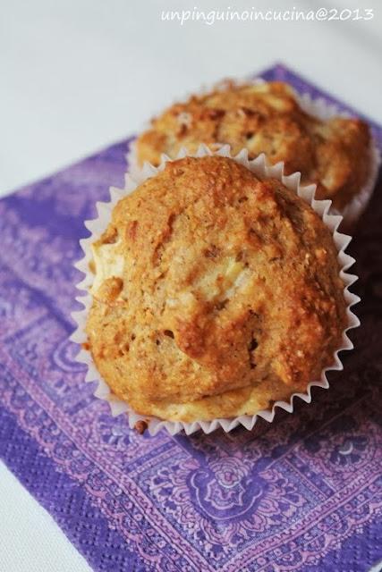 muffin integrali alle mele (senza burro né olio)