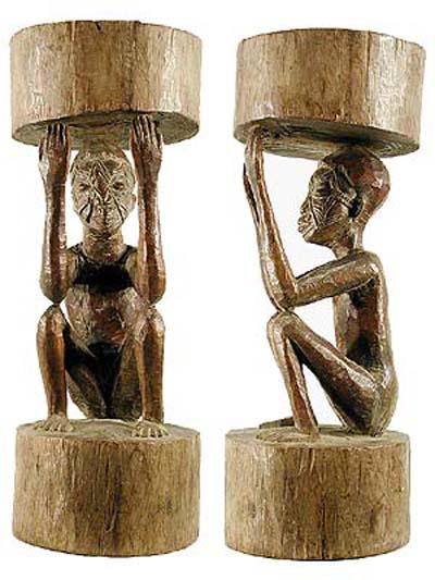 escultura maconde em madeira