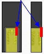Как заклеить контакты 2: на противоположной стороне