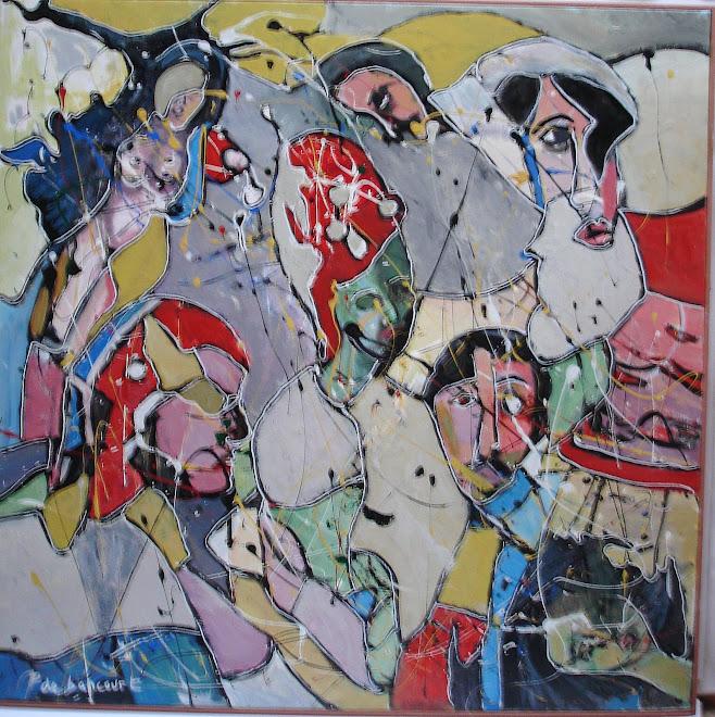 -Méditérranée- Peinture de Pierre de bancourt