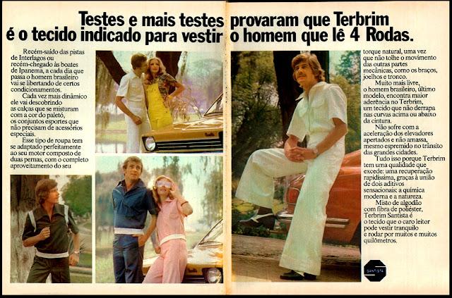propaganda Terbrim - 1974, Moda anos 70; propaganda anos 70; história da década de 70; reclames anos 70; brazil in the 70s; Oswaldo Hernandez