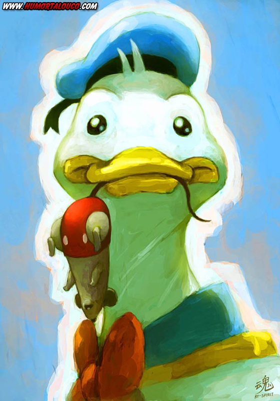 18 animações do mundo dos vídeos games e desenhos - Pato Donald - Dollan