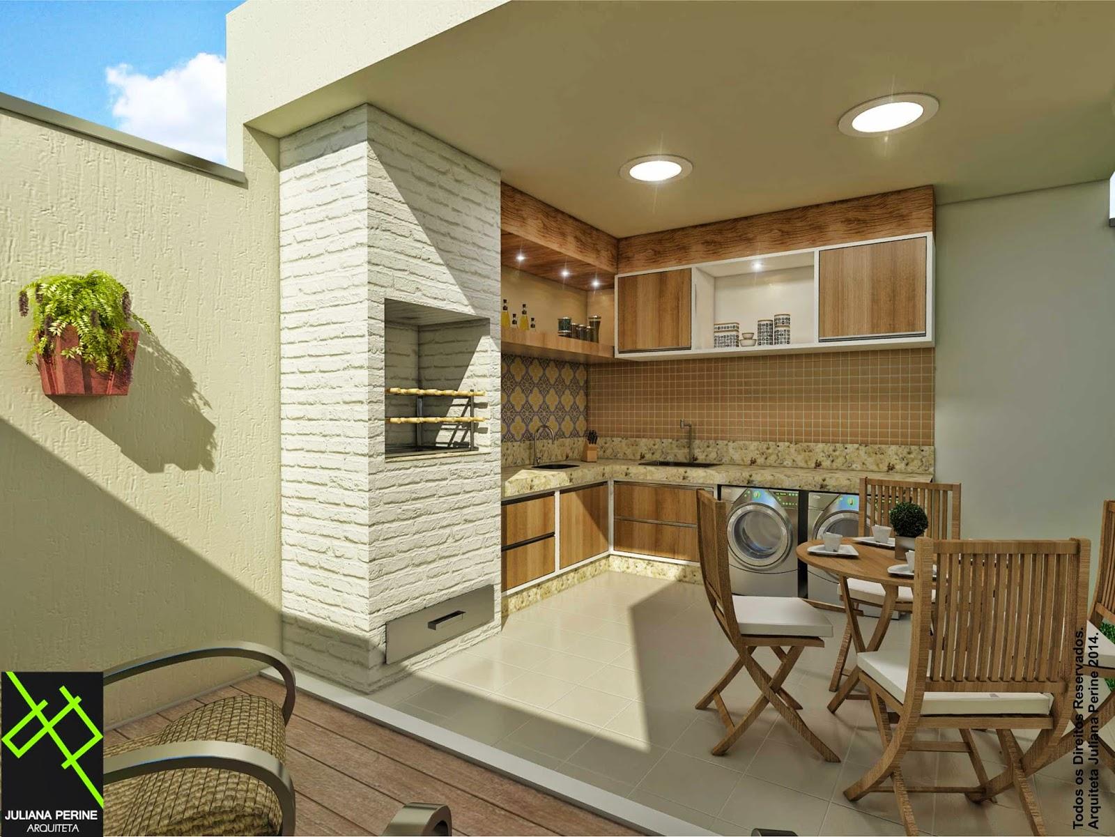 Juliana Perine : Projeto de acabamento e decoração de Área de  #0A76C1 1600 1201