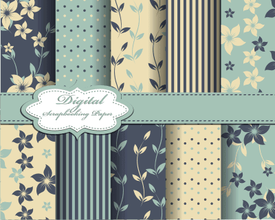 Floral Motif Backgrounds vector