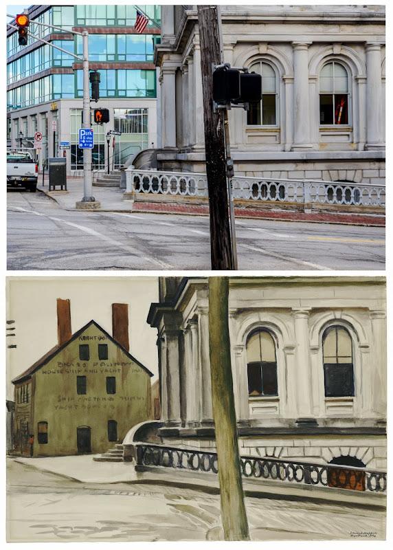 Corey Templeton Vs. Edward Hopper Custom House, Portland, Maine USA