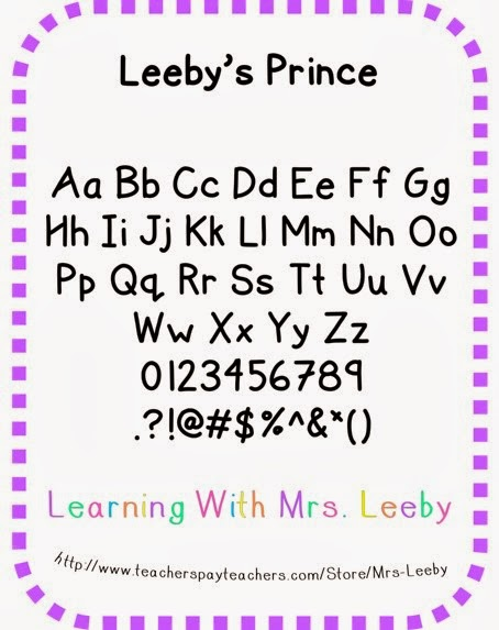 http://www.teacherspayteachers.com/Product/Font-for-personal-and-commercial-use-Leebys-Prince-1048145