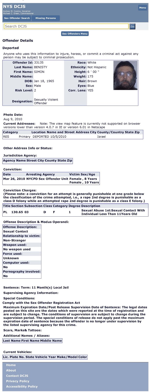 Sex Offender Registry - Legal
