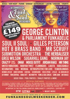 Soundcrash Funk and Soul Weekender 2017