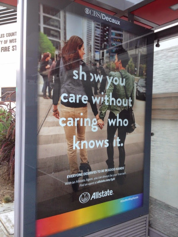 Allstate Show you care without caring who knows it ad poster