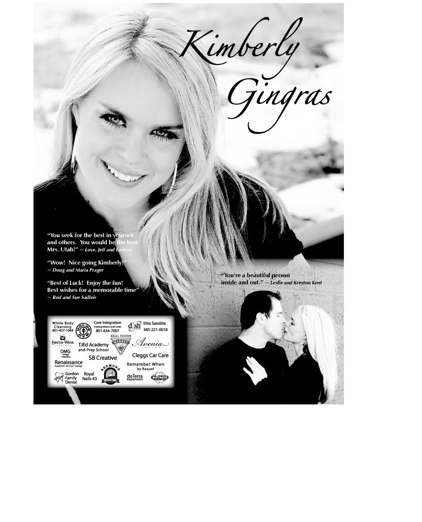 kimberly gingras pageant program book ad pages