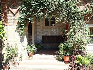 Standen House: garden alcove