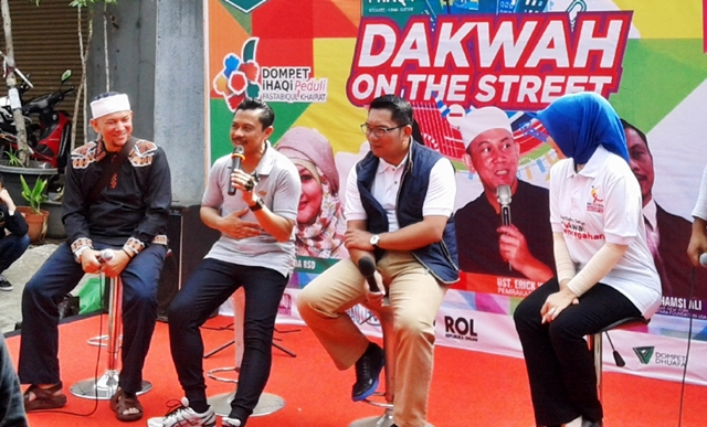 Berkat Dakwah On The Street di CFD Dago, Imam Shamsi Ali, Ridwan Kamil, Kang Erick Yusuf