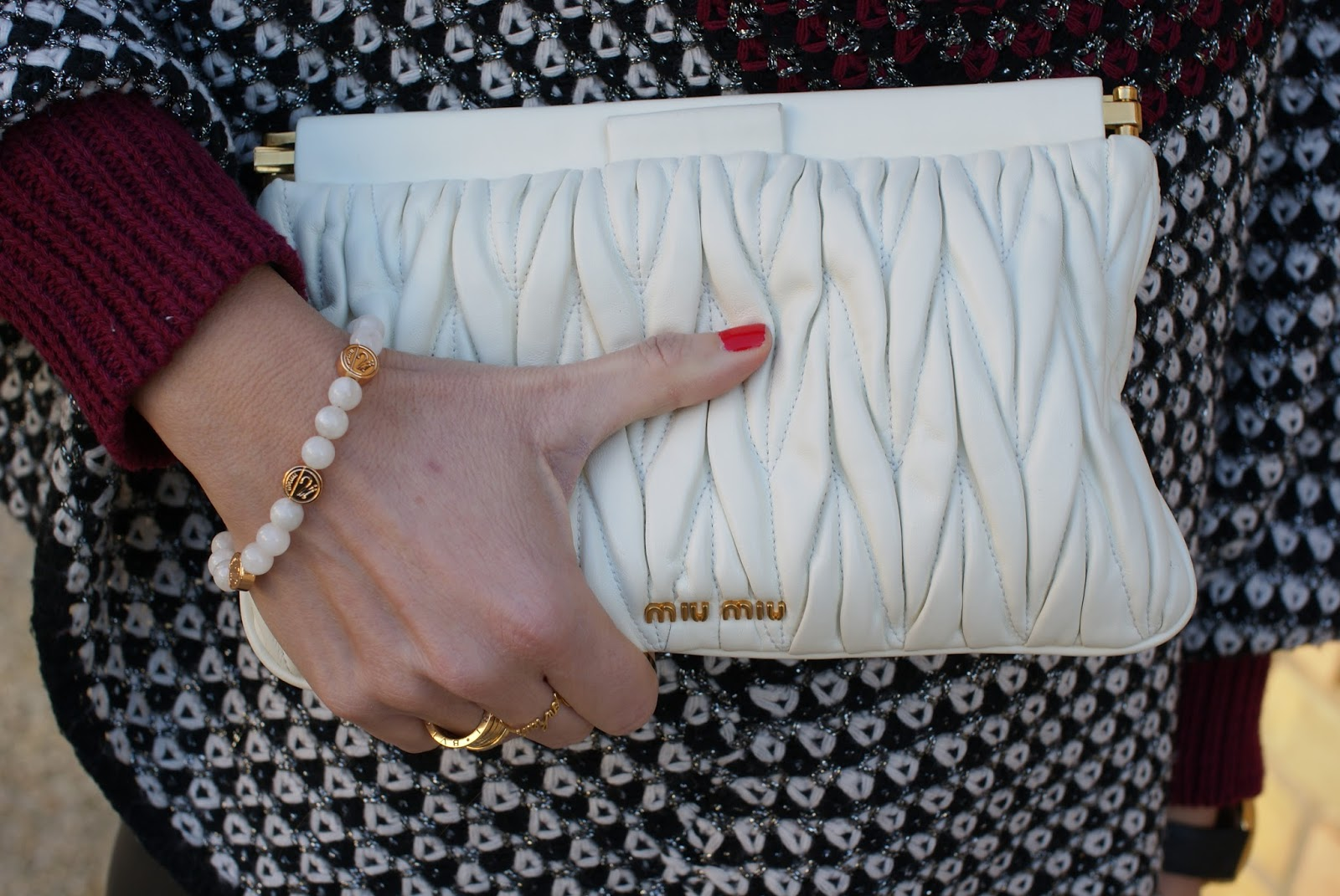 Millelire rosateresa bracciale re e clutch Miu Miu su Fashion and Cookies fashion blog