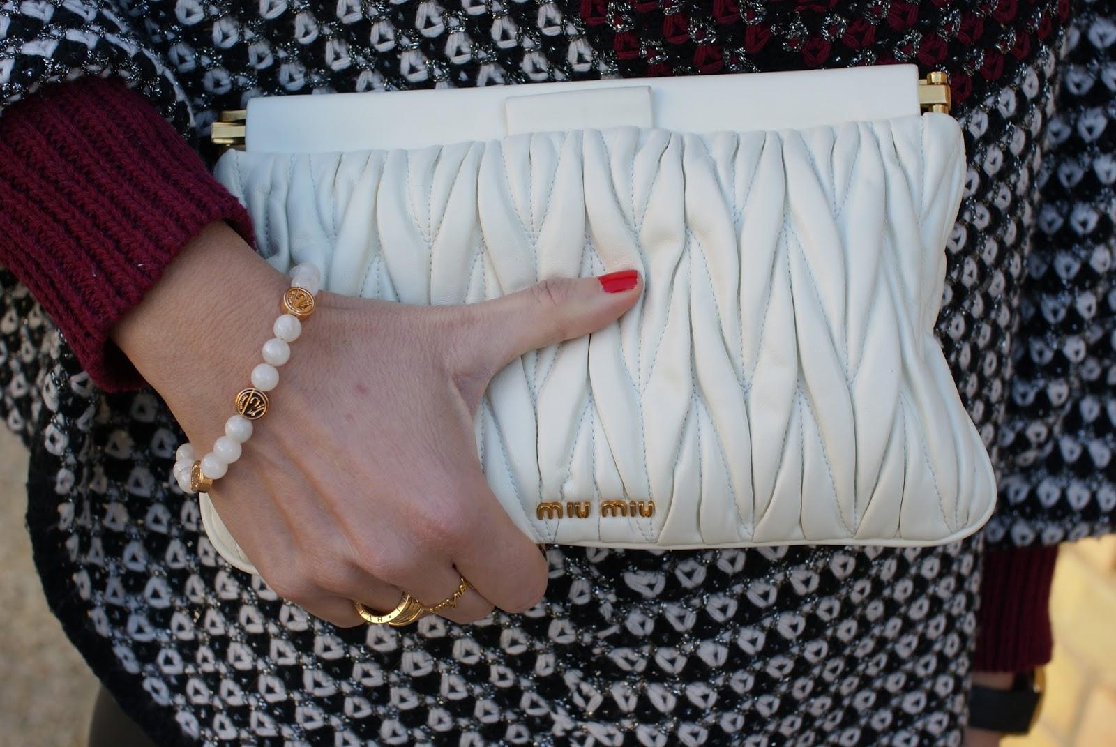 Millelire rosateresa bracciale re e clutch Miu Miu su Fashion and Cookies fashion blog