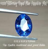 9,05ct Gliterring Royal Blue Sapphire