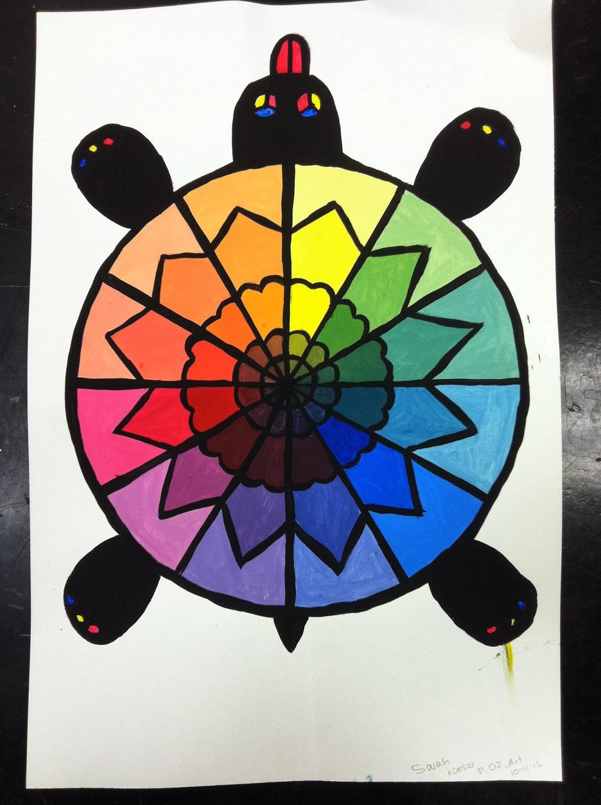 adventures of creativity student work creative color wheels. Black Bedroom Furniture Sets. Home Design Ideas