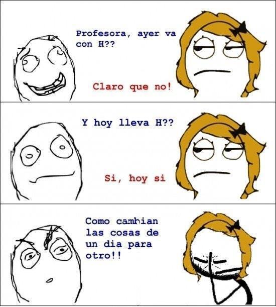 memes en español en clases