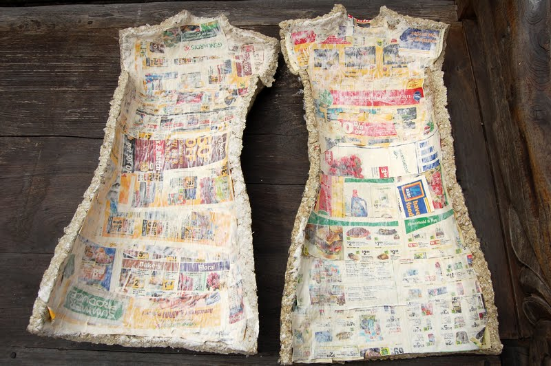 LULUSHION: Making of a Dress Form Part 2 of 4 - Papier-mâché Form