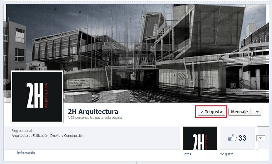 2h arquitectura ya tiene p gina en facebook y para for Paginas arquitectura